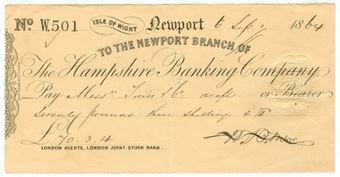 Picture of Hampshire Banking Company, Newport, Isle of Wight, 18(64)