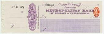 Picture of Metroplolitan Bank (of Engalnd & Wales) Ltd., Stourport, 18(97)
