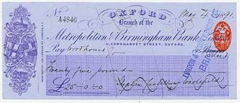 Picture of Metropolitan & Birmingham Bank Limited, 11 Cornmarket St. Oxford, 18(91)