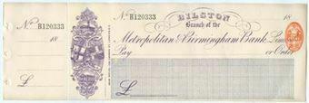 Picture of Metropolitan & Birmingham Bank Limited, Bilston Branch, 18(90)