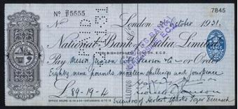 Picture of India, National Bank of India, Ltd., London, 19(31)