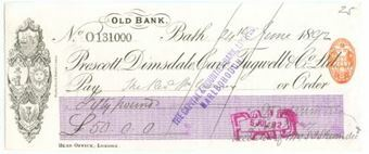 Picture of Prescott, Dimsdale, Cave, Tugwell & Co. Ltd., Old Bank, Bath, 18(92)