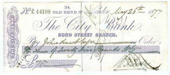 Picture of The City Bank, 34 Old Bond Street, London, 18(77)