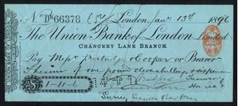 Picture of Union Bank of London Ltd., Chancery Lane Branch, 18(96)