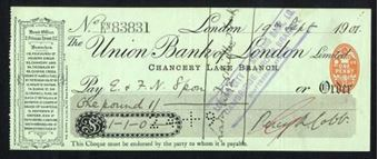 Picture of Union Bank of London Ltd., Chancery Lane Branch, 19(02),