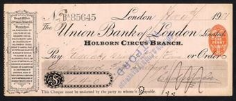 Picture of Union Bank of London Ltd., Holborn Circus Branch, 19(01)