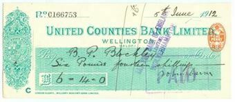 Picture of United Counties Bank Ltd., Wellington, (Salop), 19(12)