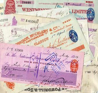 Picture of British Cheque Selection (8 pieces)