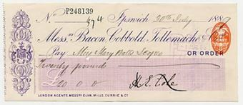 Picture of Messrs Bacon, Cobbold, Tollemache & Co., Ipswich, 188(9)