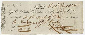 Picture of Messrs E.J. Curteis, Wm Curteis, J. Woollett & Co., Rye, (1810)