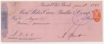 Picture of Messrs Miles, Cave, Baillie & Co., Bristol Old Bank, 18(81)