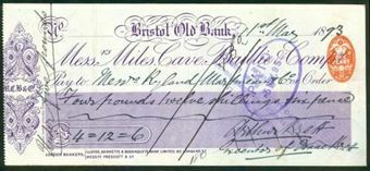 Picture of Miles, Cave, Baillie & Co., Bristol Old Bank, 18(93)