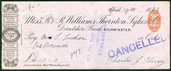 Picture of R & R Williams, Thornton, Sykes & Co., Dorsetshire Bank, Sturminster, 18(88)