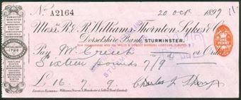 Picture of R & R Williams, Thornton, Sykes & Co., Dorsetshire Bank, Sturminster, 189(7)
