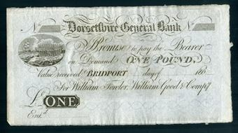 Picture of Dorsetshire General Bank Bridport £1 180- Unissued (Outing 290a) Crisp GEF/Unc