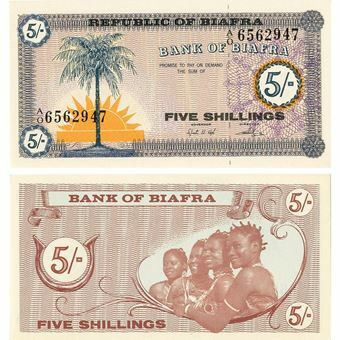 Picture of Biafra, 5 shillings (1967) (P1) UNC