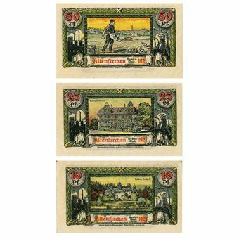 Picture of Germany, Set of 3 Altenkirchen Notgeld dated 1921. UNC