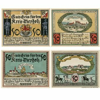 Picture of Germany, 4 different Diepholz Notgeld , 1921