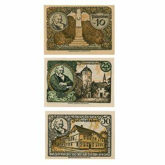 Picture of Germany, Set of 3 Fallersleben Notgeld. UNC