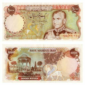 Picture of Iran, 1000 rials (P105). Crisp GEF