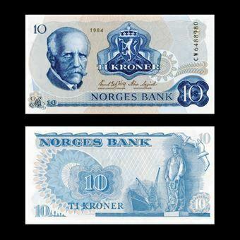 Picture of Norway 10 Kroner 1981-4 P36 Unc