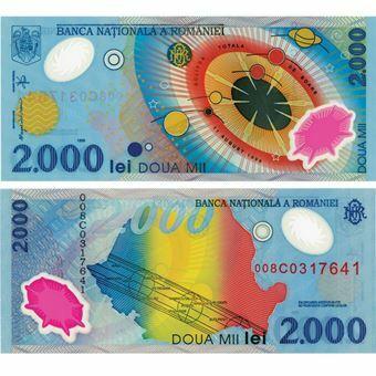 Picture of Romania 2000 Eclipse Plastic P111 Unc