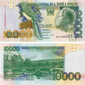 Picture of St Thomas and Prince Islands, 10,000 dobras, 1996 (P66) UNC