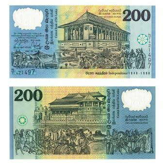Picture of Sri Lanka 200 Rupees Plastic P114 Unc
