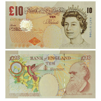 Picture of Andrew Bailey Historical £10 Darwin B400 Unc