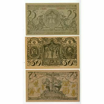 Picture of Germany, Oberammergau, Notgeld, set of 3 notes, 1921. UNC