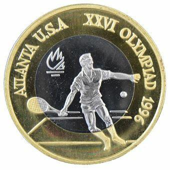 Picture of Romania, Tennis Bi-metallic