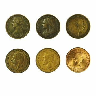 Picture of Type Set of Bronze Farthings, VG or better