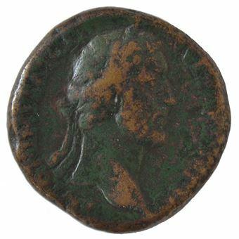 Picture of Antoninus Pius, 138-161 A.D., Ӕ Sestertius. VF rare