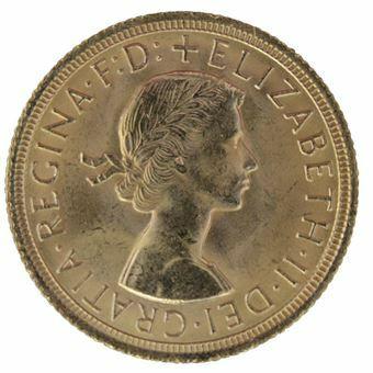 Picture of Elizabeth II, Sovereign Pre-decimal Uncirculated
