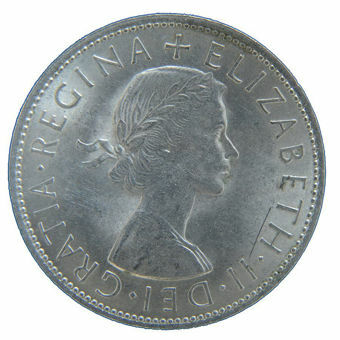 Picture of Elizabeth II, Halfcrown 1967 Uncirculated