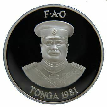 Picture of Tonga, 2 Pa'anga, 1981 World Food Day. Proof UNC