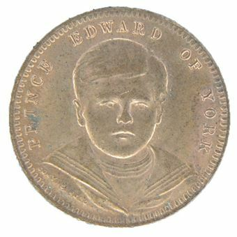 Picture of Edward VIII, 'Prince of York', Victorian Whist Counter Brilliant Uncirculated