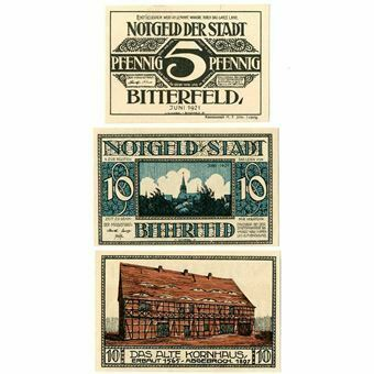 Picture of Germany, Bitterfeld, Pair of Notgeld dated 1921