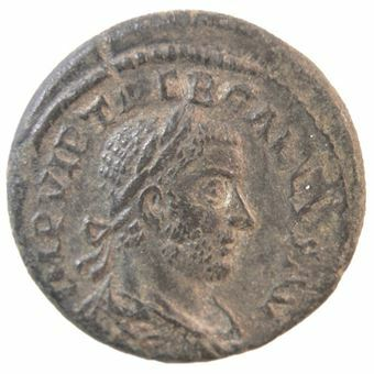 Picture of Trebonianus Gallus (251-253 A.D.) AE22. AEF Scarce
