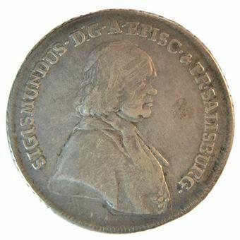 Picture of Austria, Salzburg, Silver Thaler, 1757. AVF
