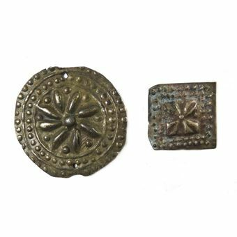Picture of Ancient Byzantine, two silver clothing ornaments.