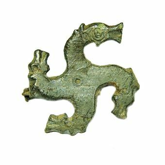 Picture of Roman, Bronze 'Swastika' brooch, ca. 3rd cent. A.D.
