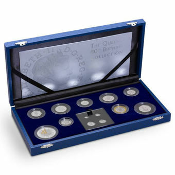 Picture of Elizabeth II, (Queen's 80th Birthday 13 Coins) 2006 Silver Proof Set