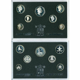 Picture of Elizabeth II, 7-coin Silver Proof Set in presentation case, 1996