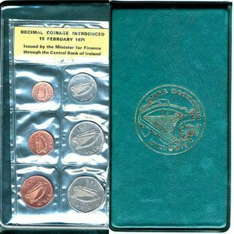 Picture of Ireland, 1971 6-coin Proof Set FDC