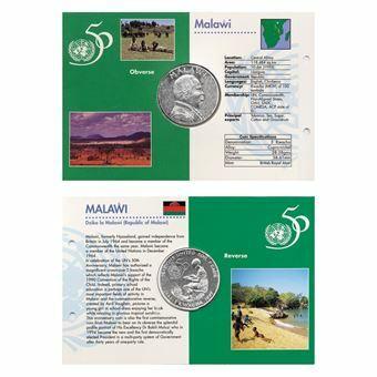 Picture of Malawi, 1995 UN 5 Kwacha Commemorative Crown. UNC