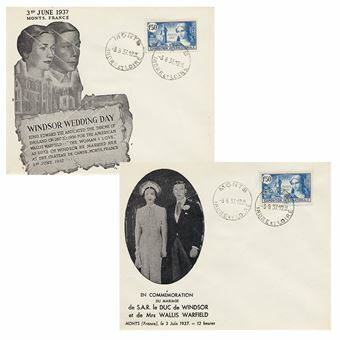 Picture of Edward VIII Pair of French Wedding Covers