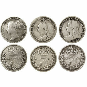 Picture of Victoria, Threepence Type Set