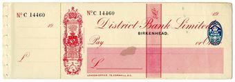 Picture of District Bank Ltd., Birkenhead, 19(28) Unissued