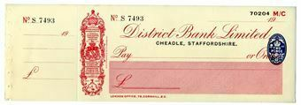 Picture of District Bank Ltd., Cheadle, 19(29) Unissued